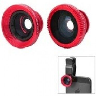 Universal 3in1 Fisheye Macro Wide Angle Lens for Smart Phones red just in  CA$12.99 In Stock #Wide Angle Lens  #3in1 Fisheye Macro Wide Angle Lens