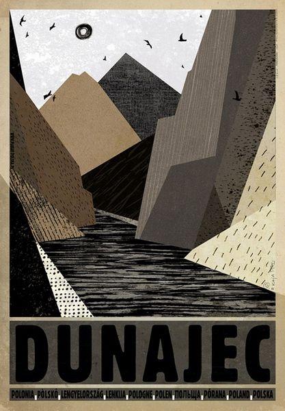 Dunajec River, Poland Dunajec, Polska Kaja Ryszard Polish Poster