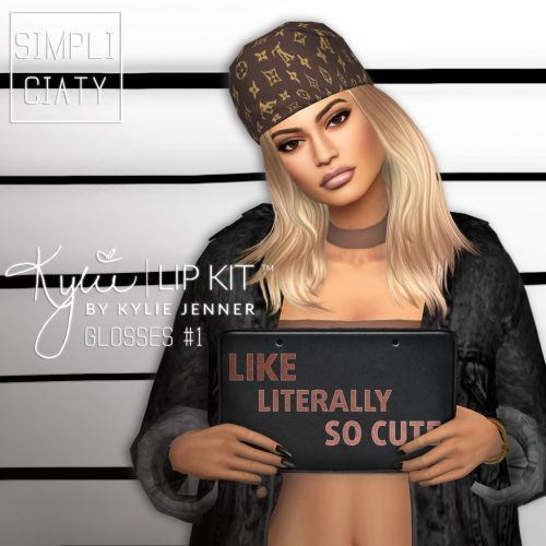 simpliciaty kylie lip kit glosses 1 sims 4 downloads sims 4