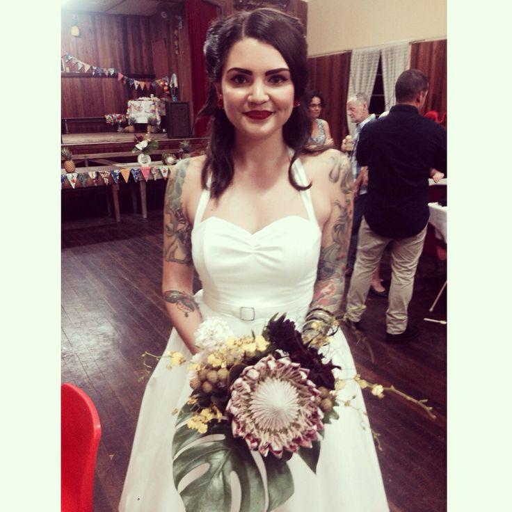 The bride! Bouquet by Bonnie's Bits & Blooms Email: bonniesbitsandblooms@hotmail.com