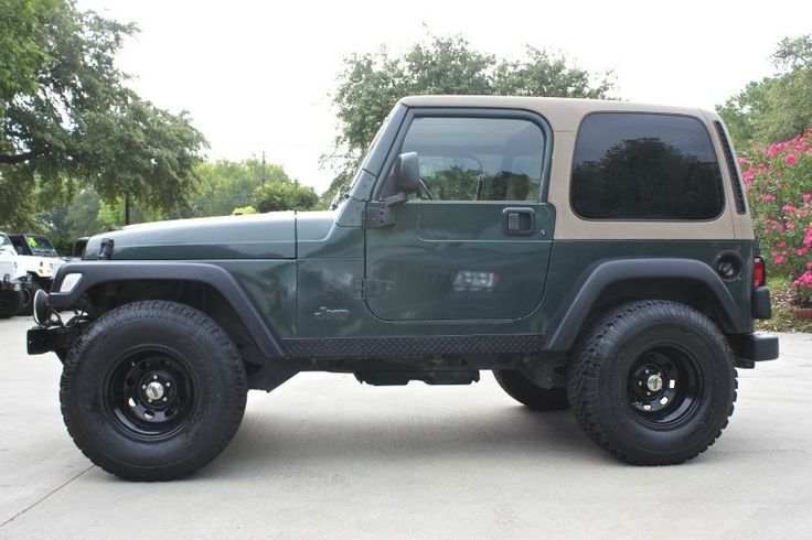 2002 green wrangler sport 102k miles automatic pro. Black Bedroom Furniture Sets. Home Design Ideas