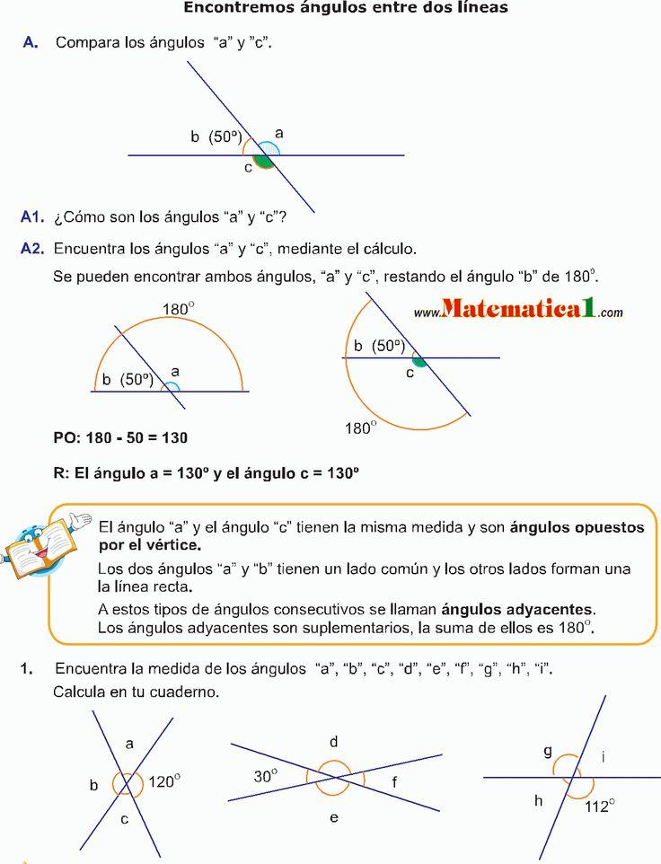 LOS ÁNGULOS EJEMPLOS RESUELTOS DE GEOMETRÍA DE QUINTO DE PRIMARIA EN PDF | MATEMATICAS EJERCICIOS RESUELTOS