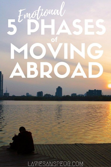 5 Emotional Phases Of Moving Abroad. What emotions and phases of culture shock to expect when you move or study abroad. This is what I went through after moving to a country where I don't speak the language. I deal with anxiety and depression, but I don't let that stop me from travel!