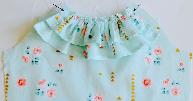 How to Sew Ruffles into a Neckline   Sew Mama Sew   Outstanding sewing, quilting, and needlework tutorials since 2005.
