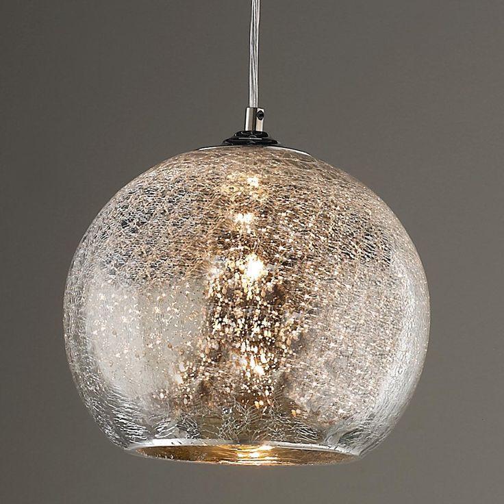 Crackled Mercury Bowl Pendant Light