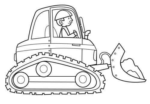 transportmittel baggerfahrer zum ausmalen  ausmalen