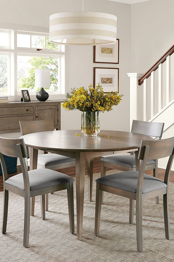 Adams Round Extension Tables Wood Dining TablesExtensionsEatIdeas Modern Table