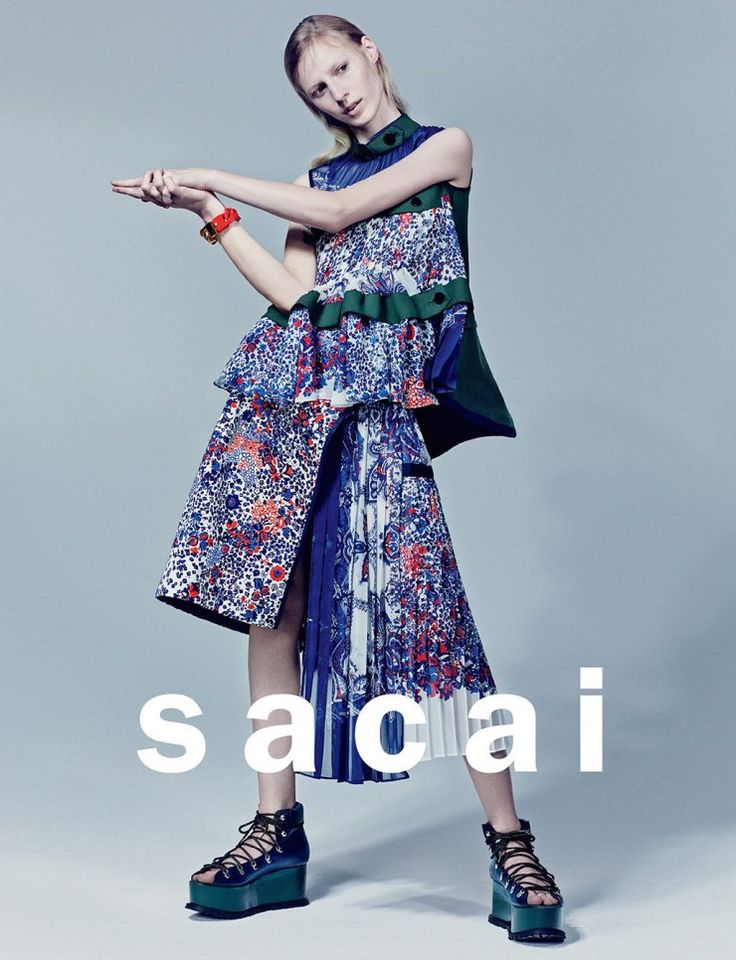 Julia Nobis by Craig McDean for Sacai Spring Summer 2015