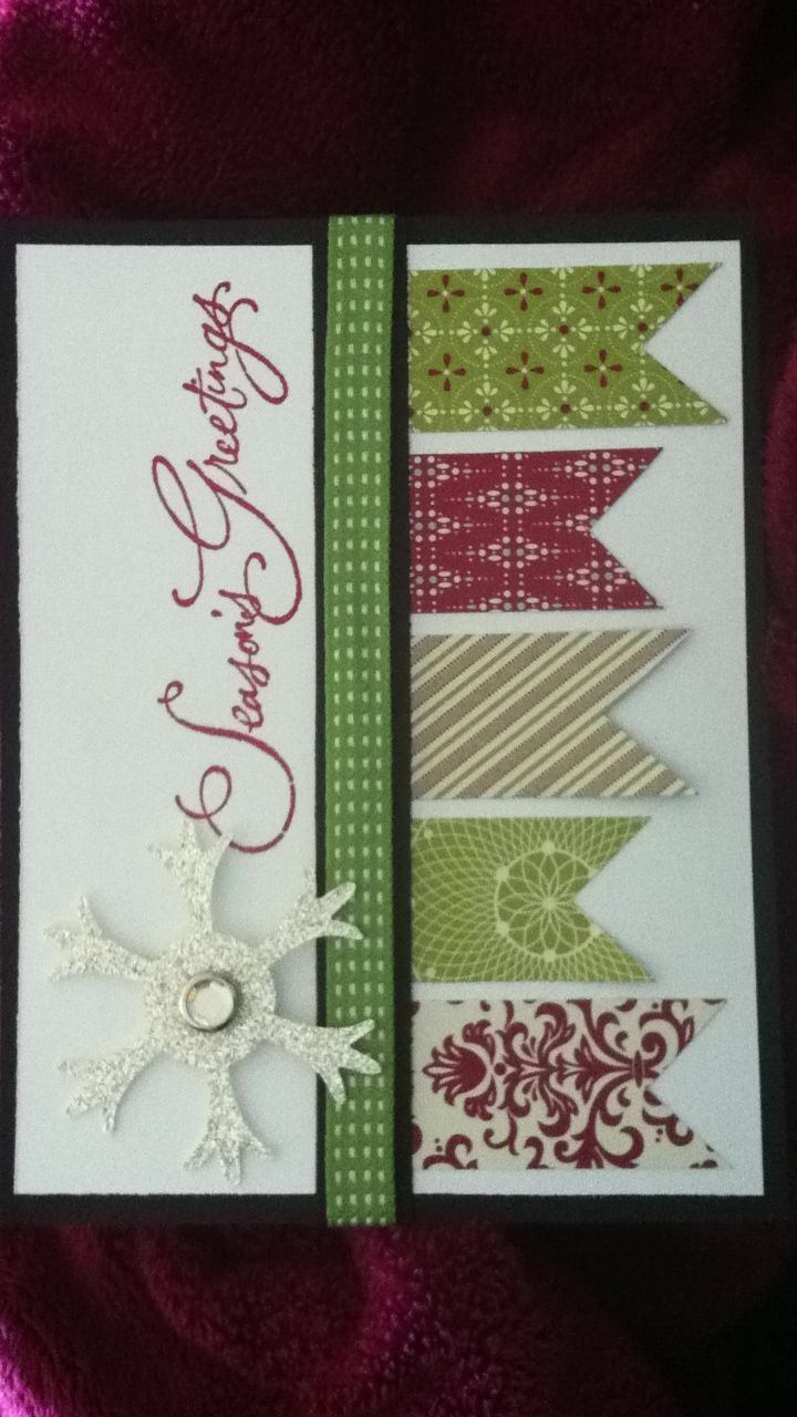 Stampin' Up! Christmas card. I like the pendant flags on this card. They would…