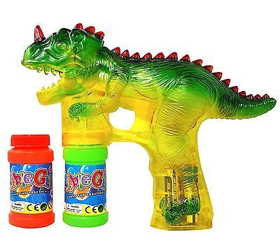 Haktoys 1900D Dinosaur Bubble Shooter Gun with LED Lights NEW FREE SHIPPING