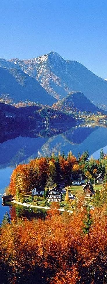 Gesäuse National --  Park  AUSTRIA   #sky blue mountain landscape forest tree autumn fall amazing lake sea reflection #by http://indulgy.com/post/lWh0oshyT2/gesuse-national-parkaustria