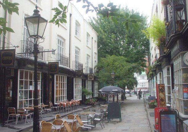 Woburn Walk, nr Bloomsbury, London.