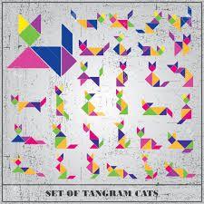 """Résultat de recherche d'images pour """"tangram chats"""""""