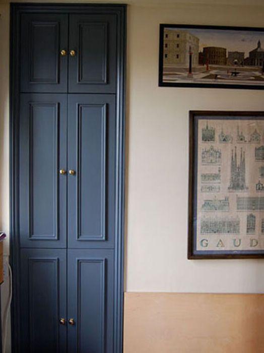 Wardrobe with beaded doors