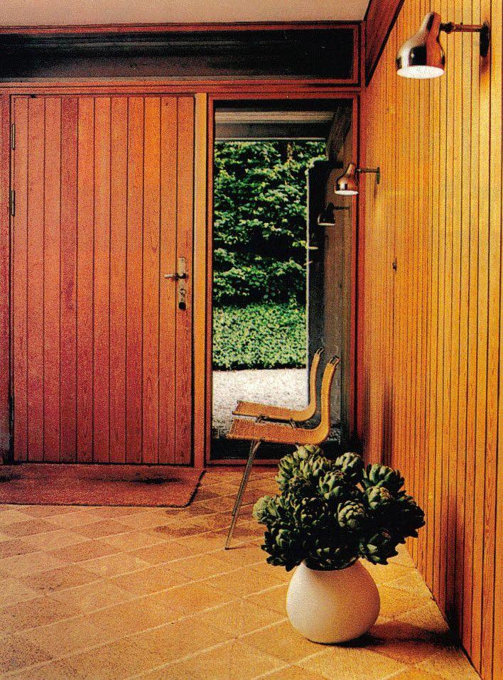 Hanne Kjaerholm architect, Danish home for Poul Kjaerholm featuring PK1 chairs and Vilhelm Lauritzen lamps.