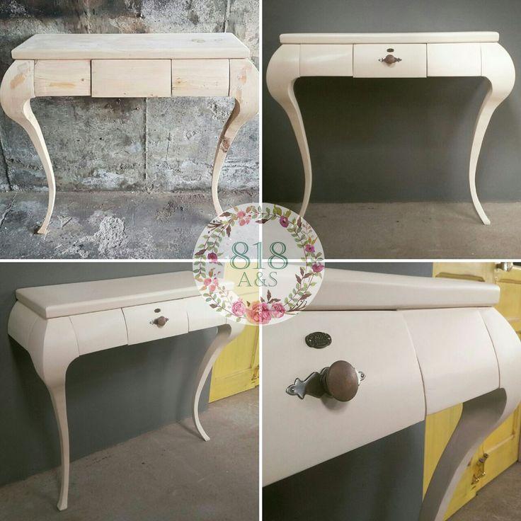 Mesa Entrada 2 patas color blanco