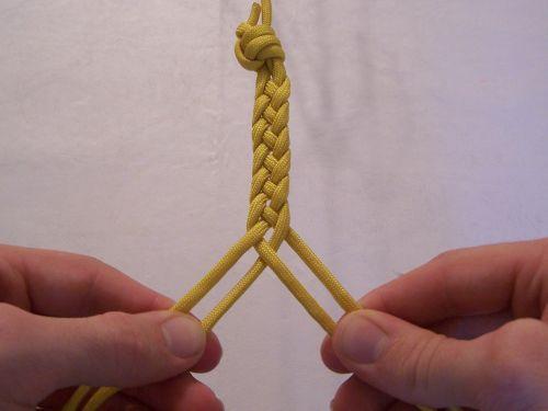 T. J. Potter, Sling Maker - Instructions for a 4-strand Flat Braid
