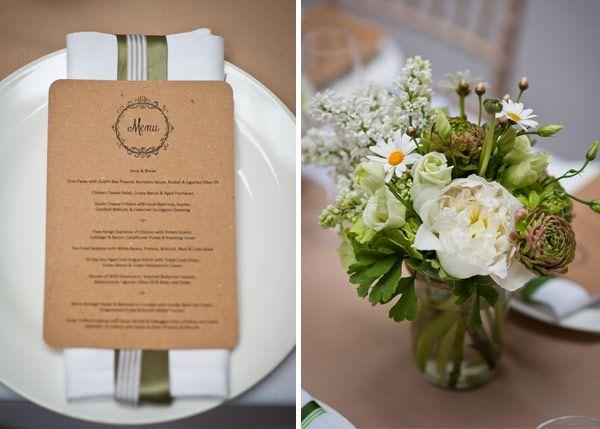 brown kraft menu for a rustic wedding  http://onefabday.com/rustic-wedding-decor-table-ideas/