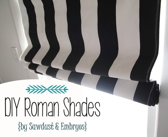 Simple DIY Roman Shades... using your existing mini-blinds! {Sawdust and Embryos}