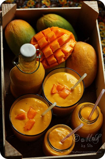 Mango Lassi - Made 1/2014. Very thick lassi, most of my friends added water or ice. But very easy to make and tasty.