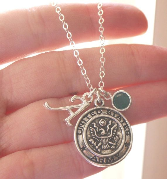 Hey, I found this really awesome Etsy listing at https://www.etsy.com/listing/174449184/personalized-army-necklace-proud-army