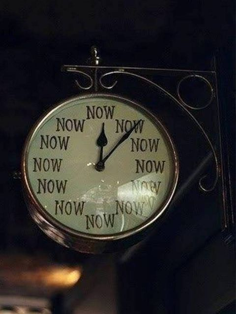 """""""the time is now"""" clock 