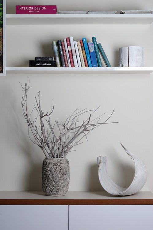 decoration, living room, books