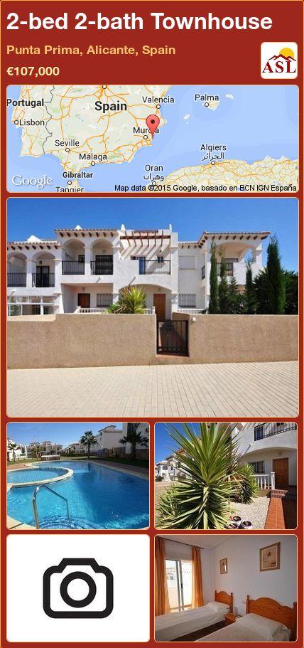 2-bed 2-bath Townhouse in Punta Prima, Alicante, Spain ►€107,000 #PropertyForSaleInSpain