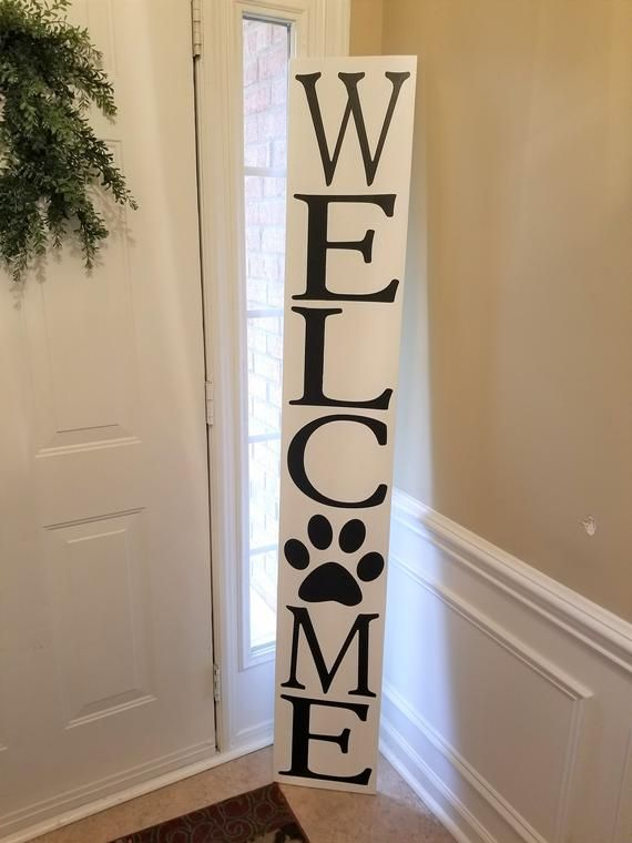 72 6 Foot Leaning Porch Sign Welcome Etsy Porch Signs Welcome Signs Front Door Wood Signs
