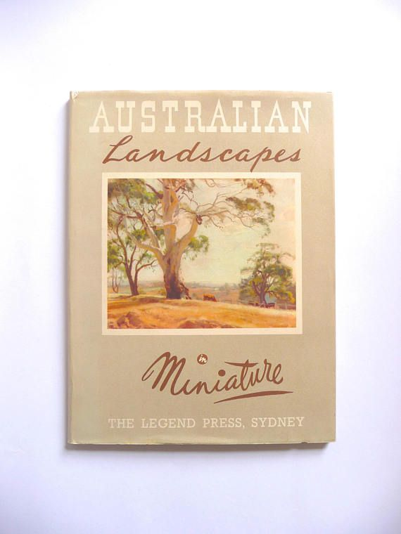 Australian Landscapes in Miniature Vintage Art Book