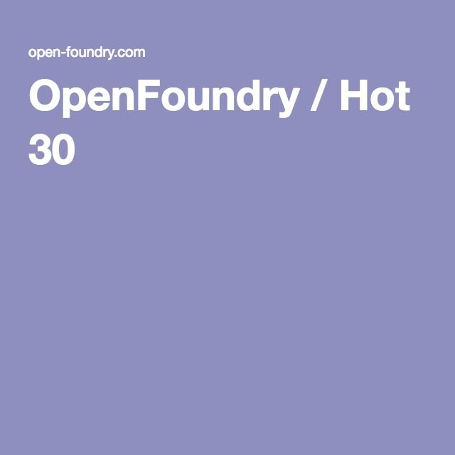OpenFoundry / Hot 30