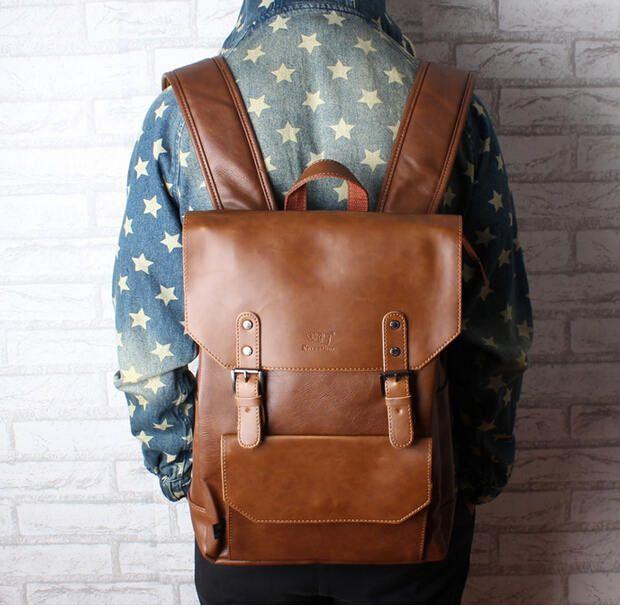 Nouveau hommes sacs à dos vintage sac à dos en cuir grande taille voyage sac étudiant occasionnel ordinateur portable sac à dos sacs d'école pour les adolescents filles