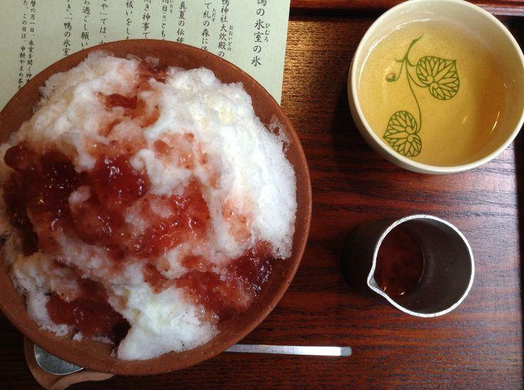 京都 下鴨神社にある、さるやのカキ氷。とっても美味しい!