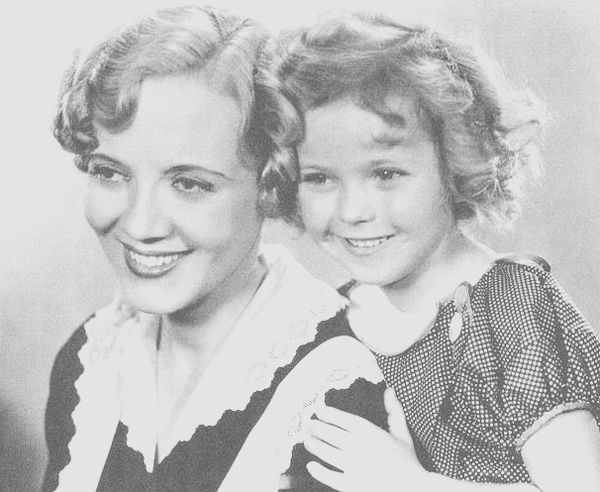 Lois Wilson and Shirley Temple in a portrait for Bright Eyes, 1934.