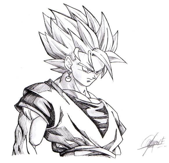 Dibujos De Goku Super Sayayin Dios Para Colorear Imagui Dibujo