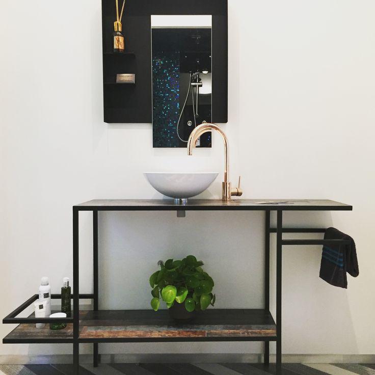 bathroom cabinet online design tool%0A Handmade bathroom furniture in steel  Design by armand u    francine  steel   bathroom  handmade