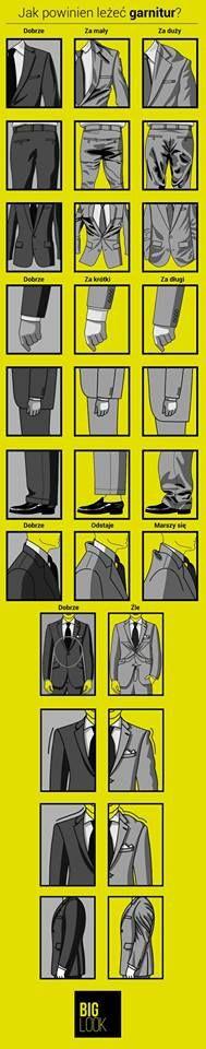 "Jak powinien leżeć garnitur? Praktyczna ""ściąga"" :)"