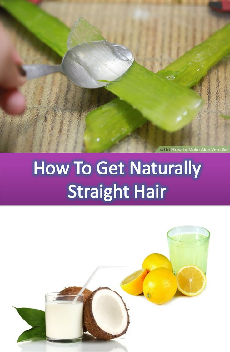 how to naturally get straight hair