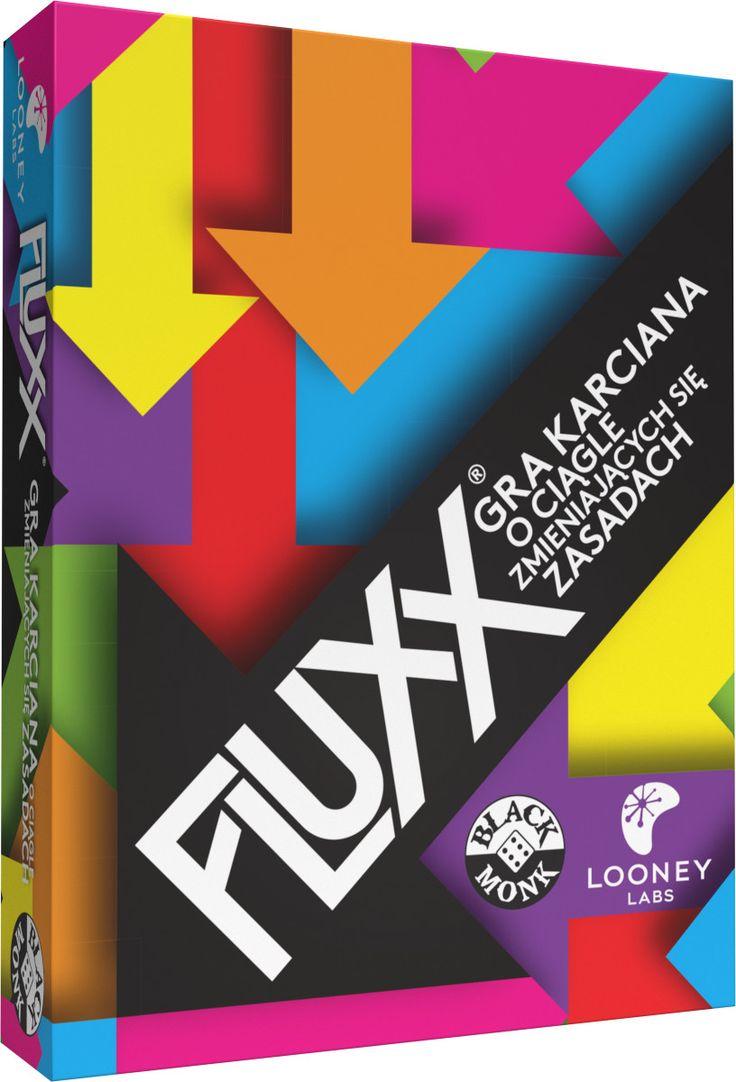 Gra karciana o bezustannie zmieniających się zasadach!. FLUXX to łatwa do opanowania gra karciana o ciągle zmieniających się zasadach.   Wszystko zaczyna się bardzo prosto: dobierz jedną kartę i zagraj jedną kartę. To nie trwa jednak długo, bo każdy z graczy może wywrócić rozgrywkę do góry nogami za pomocą specjalnych kart Nowych Zasad! Co zrobić, gdy trzeba dobrać...