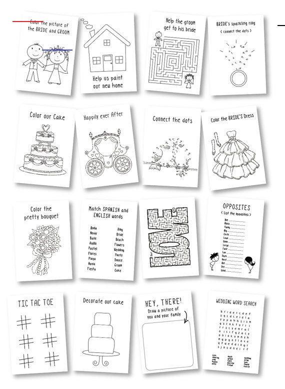 Wedding Coloring Book Kids Wedding Activity Book Wedding Favor Coloring Book For Kids Kids In 2020 Bruiloft Activiteiten Kinderen Op Bruiloft Bruiloft Gunsten