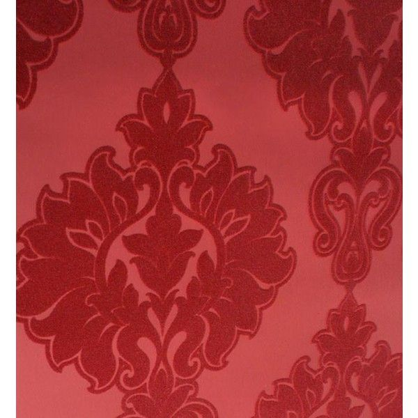 Symphony Damask Velvet Flocked Wallpaper in Rose from the Plush... ($280) ❤ liked on Polyvore featuring home, home decor, wallpaper, damask wallpaper, flock wallpaper, flocked damask wallpaper, velvet damask wallpaper and velvet flocked wallpaper