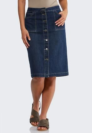 58be2cbde9 Button Front Denim Skirt Skirts Cato Fashions in 2019 | Button denim ...
