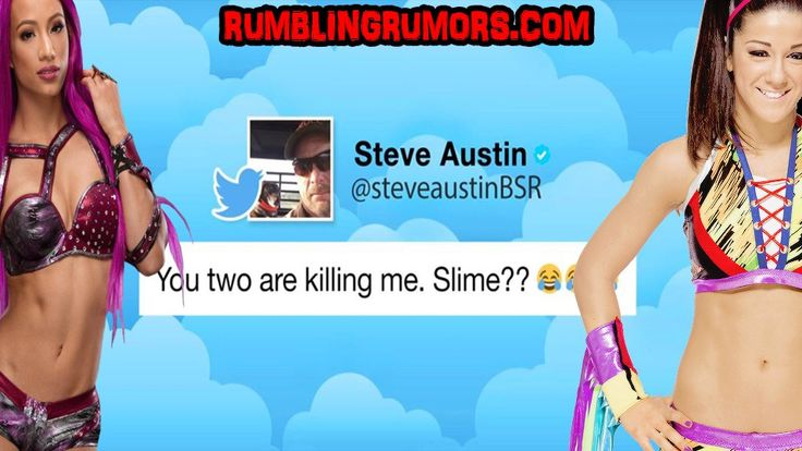 """Sasha Banks and Bayley Fight Over """"Stone Cold"""" Steve Austin on Twitter. Austin Comments!      Sasha Banks and Bayley are in a race to become """"Stone Cold"""" Steve Austin's new best friend. In the video below WWE breaks down the friendly twitter war between the two. Also they … http://rumblingrumors.com/2017/09/sasha-banks-and-bayley-fight-over-stone-cold-steve-austin-on-twitter-austin-comments/?utm_campaign=crowdfire&utm_content=crowdfire&utm_medium=social&utm_source=pinterest"""