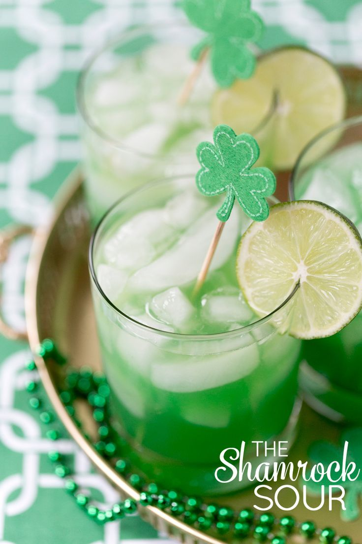 St. Patrick's Day Cocktail - The Shamrock Sour