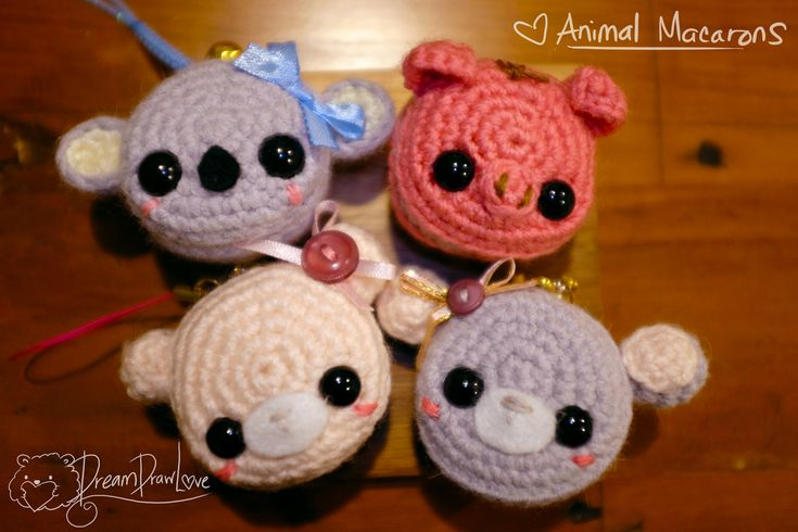 Animal macaron key chains - Gift ideas! - Visit my shop to get your own today! https://www.etsy.com/nz/shop/DreamDrawLove