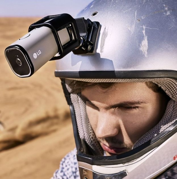 The LG Action Cam is a 12.3-megapixel little camera that can capture HD-ready, full HD or UHD video