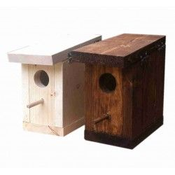 Nido artificiale in legno per uccellini selvatici BOBO