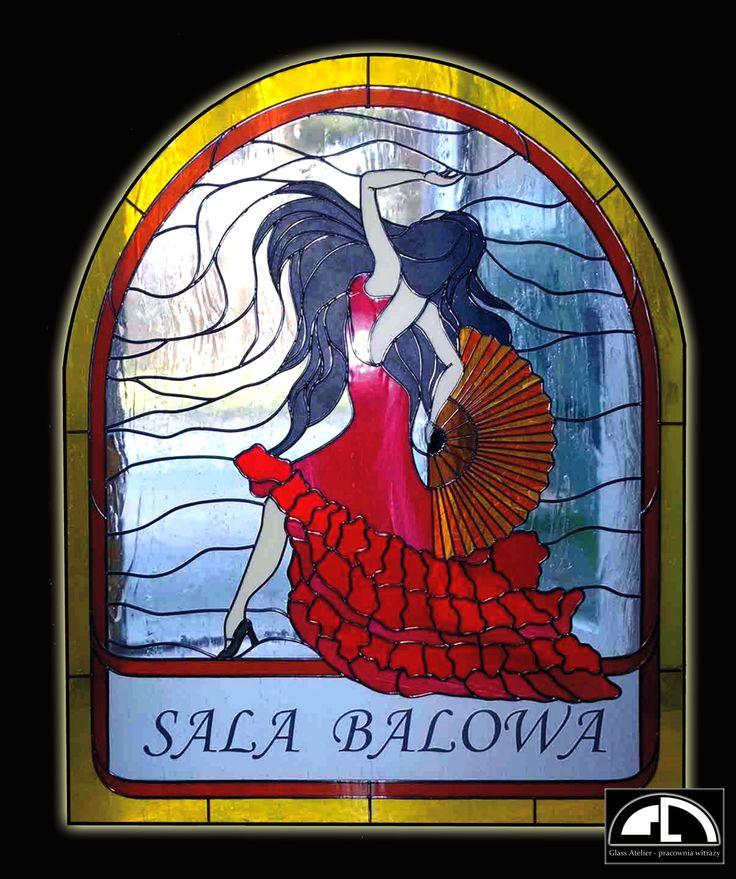 "w stylu Flamenco - tech.""overlay""  polandhandmade.pl #polandhandmade, #witraz"