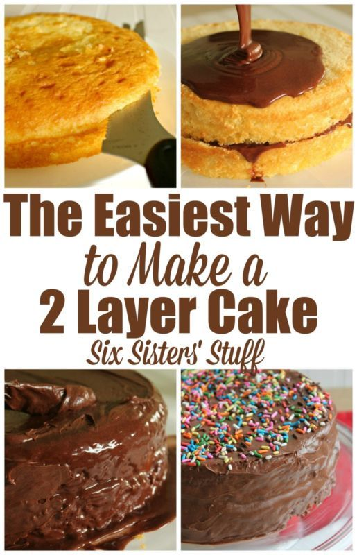 Are you intimidated by a two layer cake? Don't be! Start by making the cake mix according to the directions on the box, and then pour the batter into two nine inch round cake pans. Cook the cake, and allow it to cool. Once it cools, place the cake on a plate and take a bread knife to slice the top off to make it flat. Frosting the cakes is where it can be a bit tricky, so continue on as eBay shares step-by-step instructions for the easiest way to make a two layer cake.