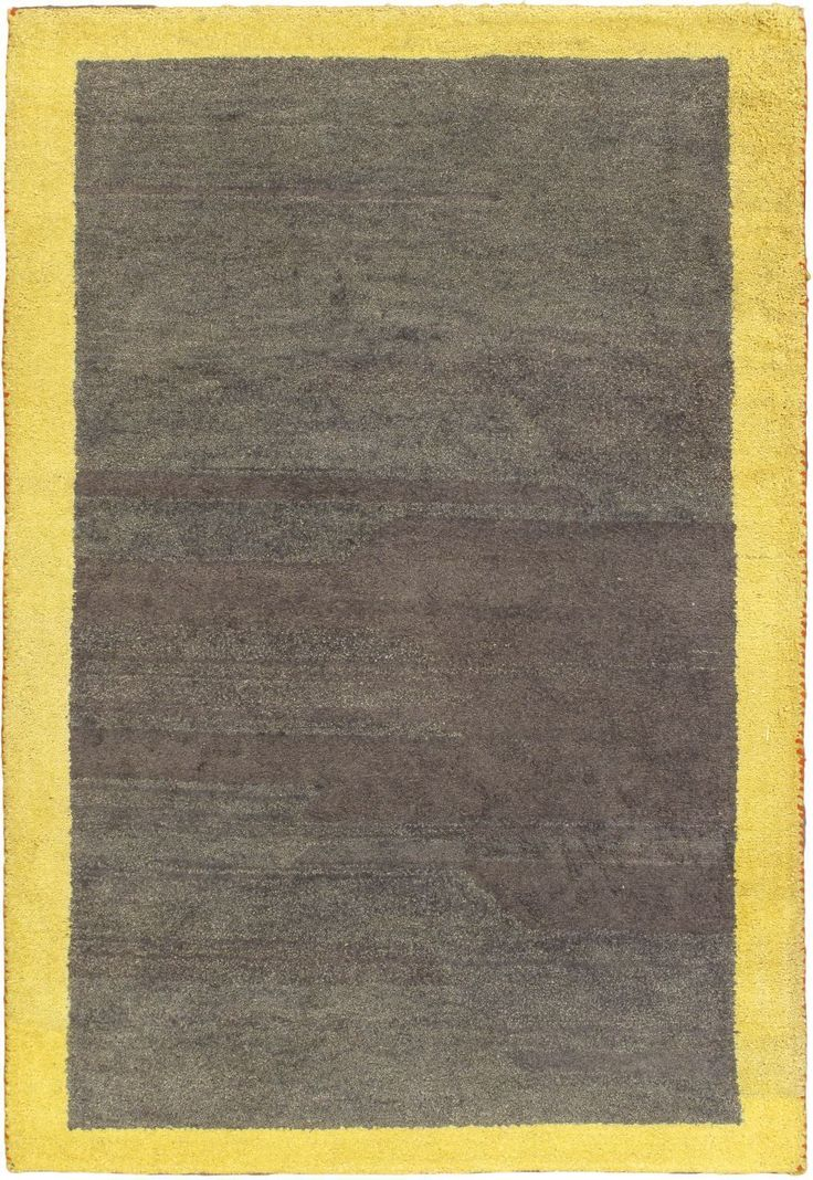 Hand Knotted Carpet 4 2 X 6 1 Indian Gabbeh Wool Rug